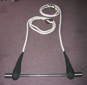 Swinging Trapeze with Cable Core - with Removeable or Non-removable Ends
